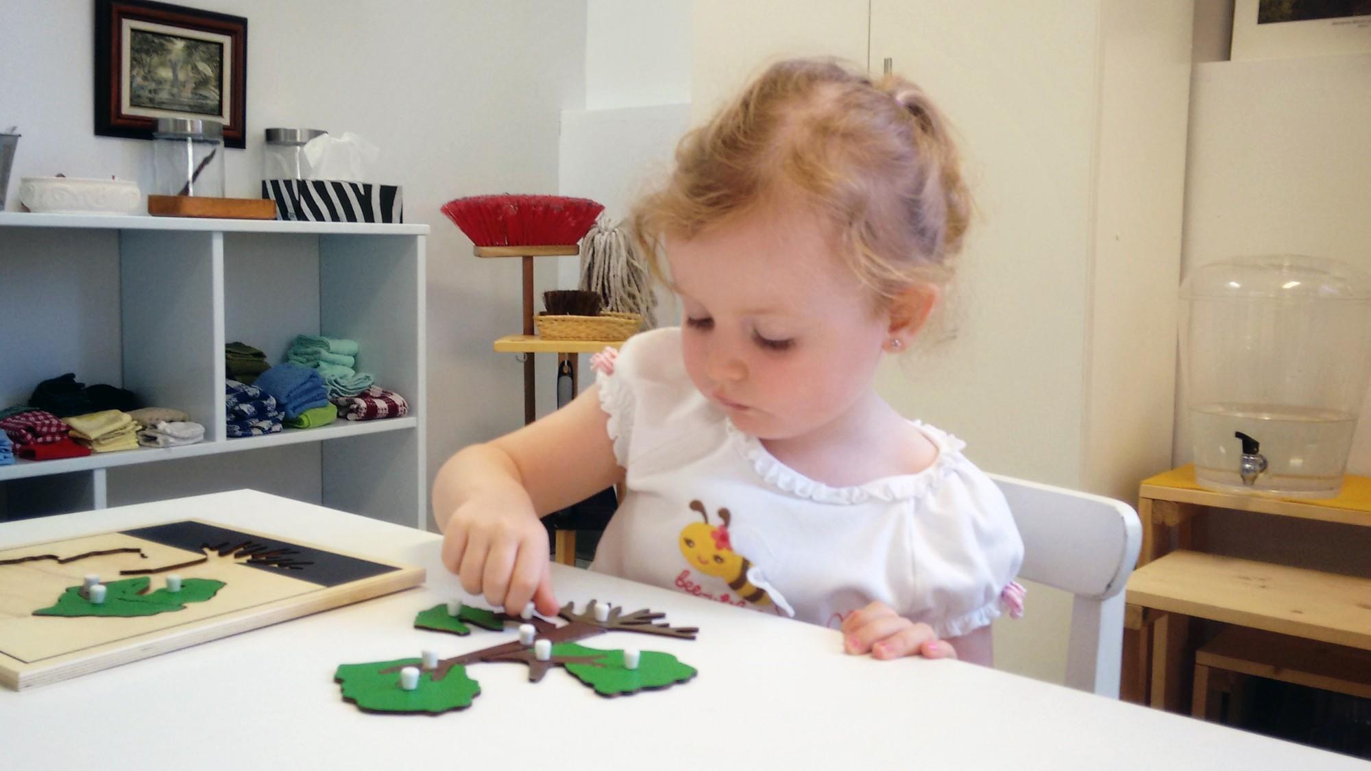Amelia with tree puzzle